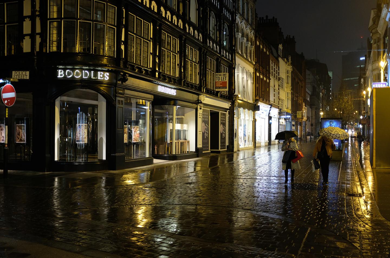 Rainy Manchester Street