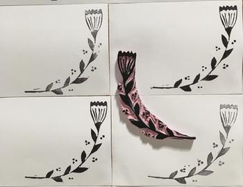 Hand printed envelopes