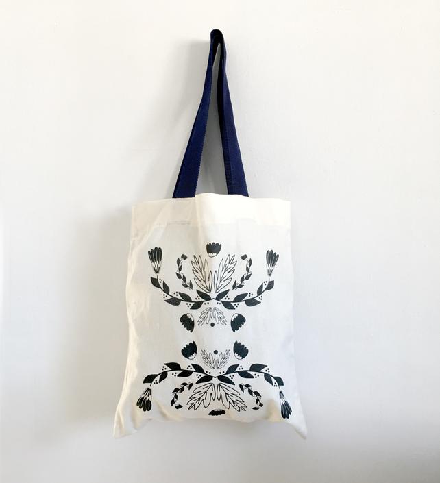 Hand sawed tote bag