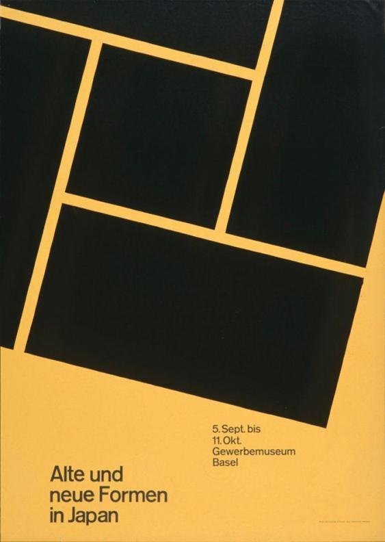 Alte und neue Formen in Japan - Gewerbemuseum Basel 1959 Armin Hofmann