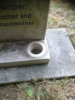 Headstone cleaning before