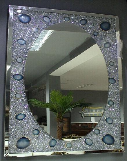 Hängespiegel 120 x 80cm Kristalloptik und Amethystoptik