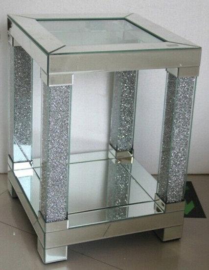 Beistelltisch Verspiegelt Modern, mit Kristalloptik