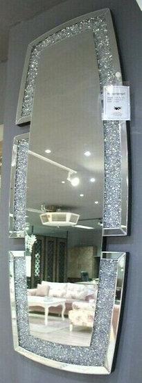 Hängespiegel Wandspiegel 160x62cm Kristallsteinoptik