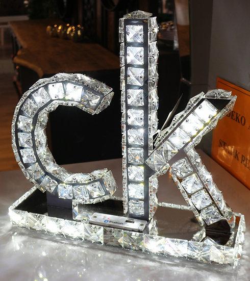 cK Calvin Klein Logo Dekorative Lampe, Diamantoptik