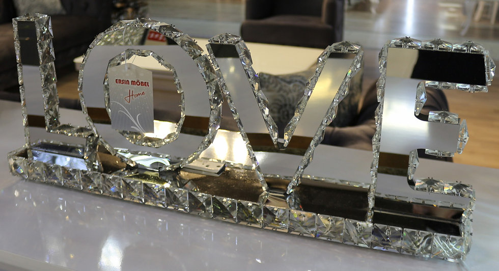 Dekorative Lampe, Diamantoptik, LOVE
