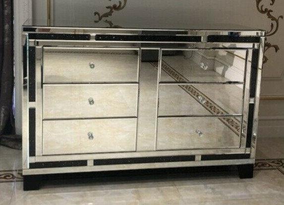 Sideboard, komplett verspiegelt, 120 x 80cm