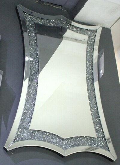 Hängespiegel 59,8 x 89,5cm Kristallsteinoptik