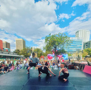 Freedom Dancers Contact Improvisation Training session at The Royal Croquet Club 2021 Adelaide Fringe