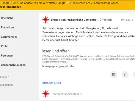 google+ wird abgeschaltet