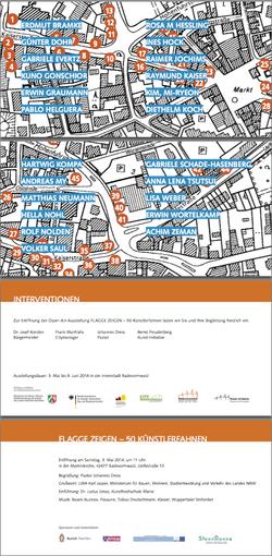 독일 라데폰발트,50개 공공미술 깃발프로젝트, 오픈에어 전시