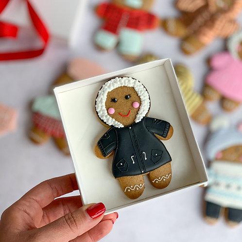 Black jacket Gingerbread man PRE-ORDER