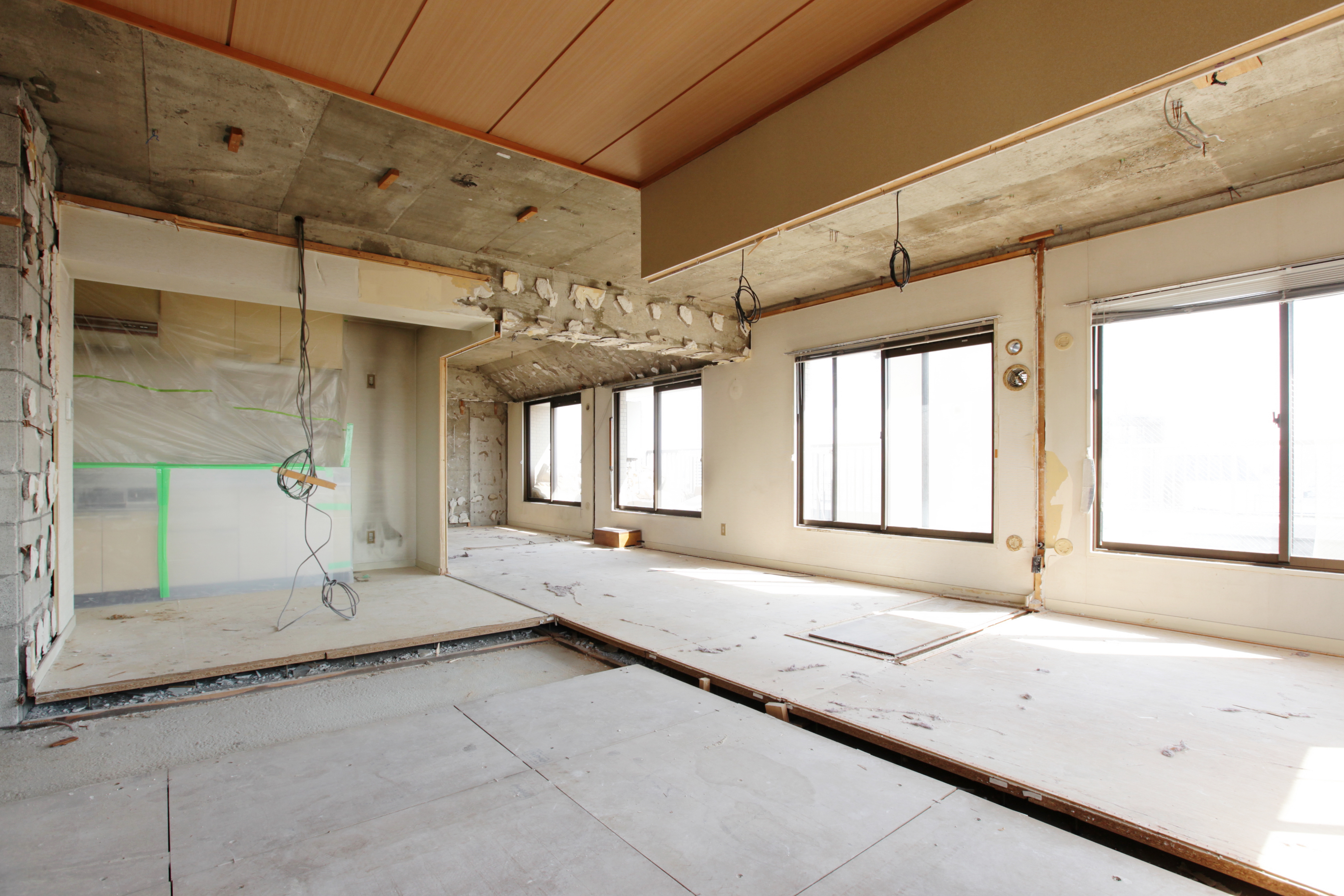Being renovated house