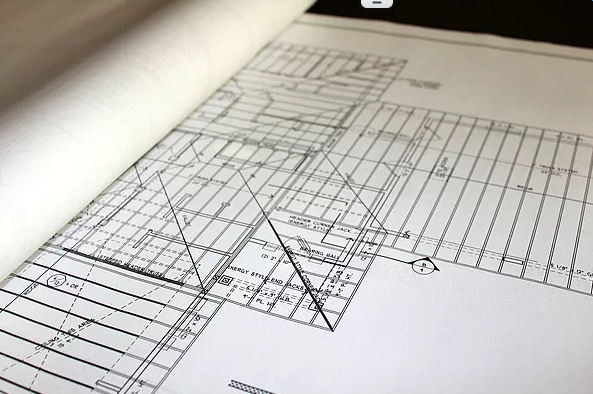 Blueprint Architectural Drawings wit