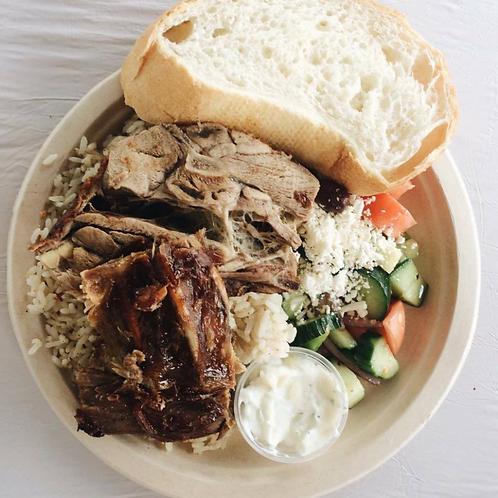 Greek Style BBQ Lamb - Dinner