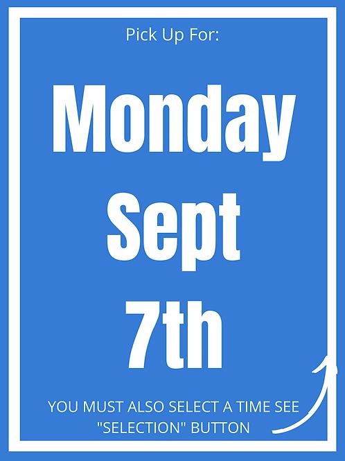 Monday September 7th