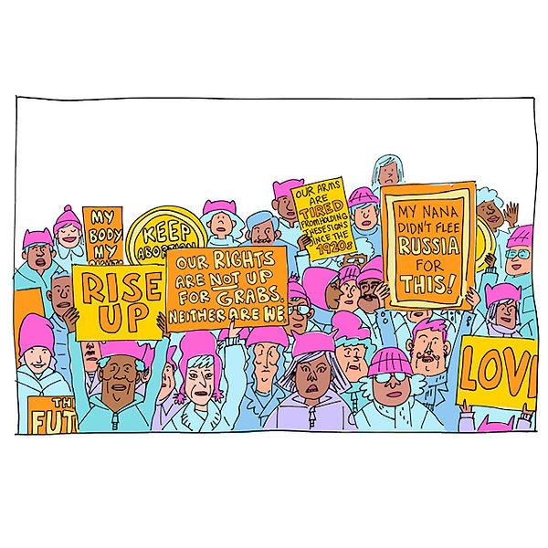 Free Speech Handbook, Women's March.JPG