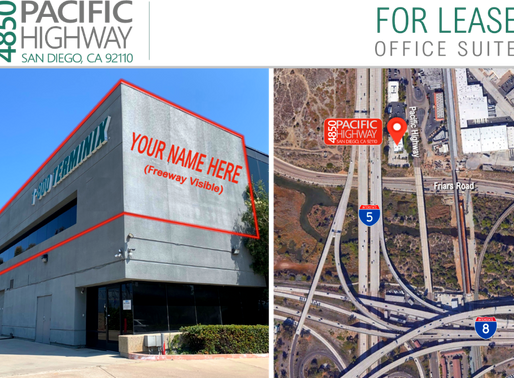 NEW LISTING | I-5 Freeway Visible Office Suites for Lease