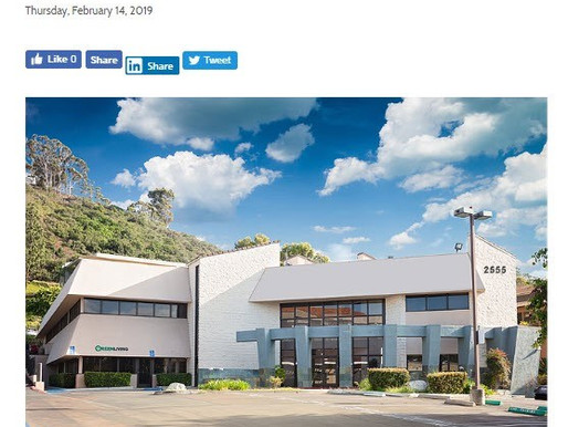 SDBJ Press Release | Mission Valley Office Building Sold for $3.95 M