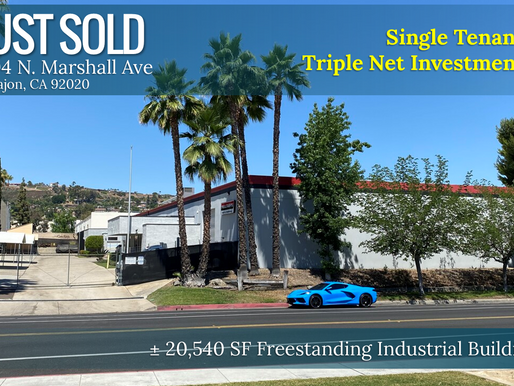 JUST SOLD! Single Tenant Triple Net Investment