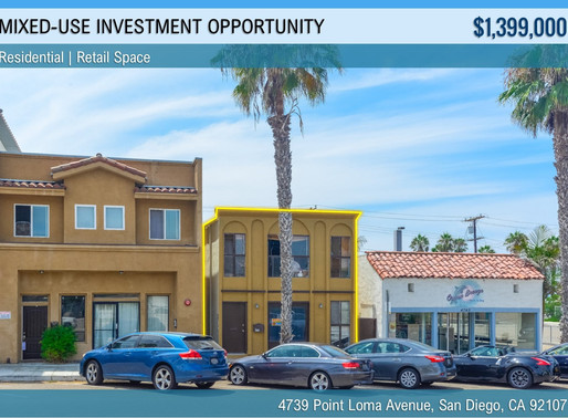 NEW ON MARKET | Point Loma Mixed-Use Investment Opportunity