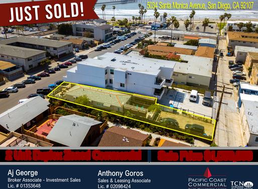 JUST SOLD! Ocean Beach 2 Unit Duplex Zoned commercial