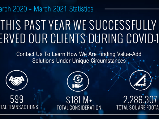 This Past Year We Successfully Served Our Clients During COVID-19