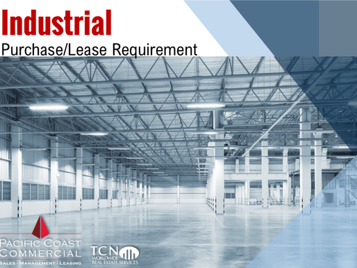 Industrial Purchase/Lease Requirement | 15,000 - 20,000 SF