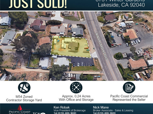 JUST SOLD! M54 Zoned Contractor Storage Yard - Lakeside