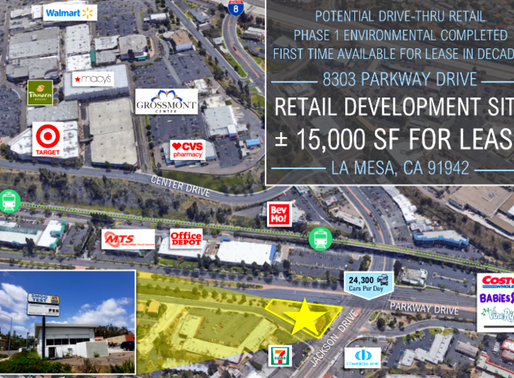 JUST LISTED   Redevelopment Site in La Mesa