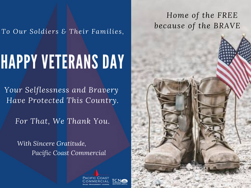 Happy Veterans Day from Pacific Coast Commercial