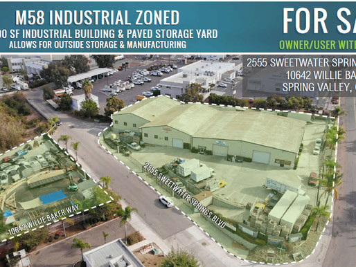 NEW ON MARKET! M58 Industrial Zoned Building & Paved Storage Yard