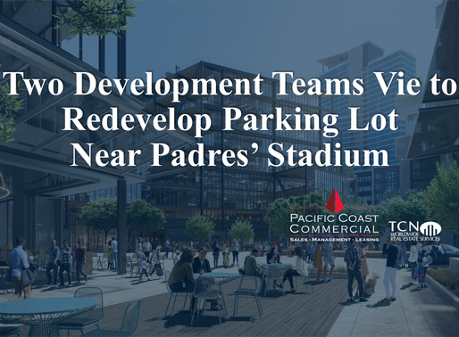 Two Development Teams Vie to Redevelop Parking Lot Near Padres' Stadium