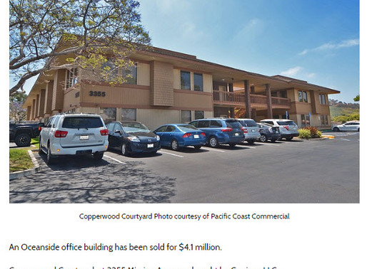 San Diego Business Journal Press Release   Office Building Sold for $4.1M