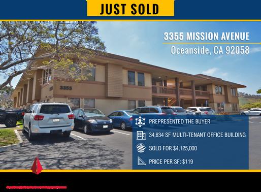 JUST SOLD FOR $4,125,000   Oceanside Office Building
