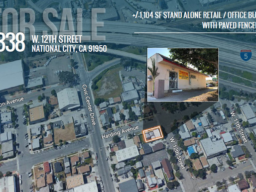 FOR SALE | Stand-Alone Retail/Office Building with Paved Fenced Yard