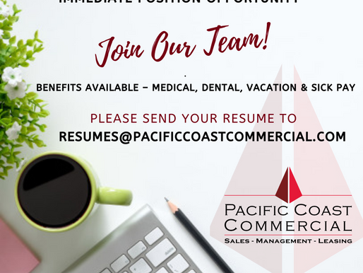 Join Our Team! Immediate Opportunity as Commercial Brokerage Coordinator