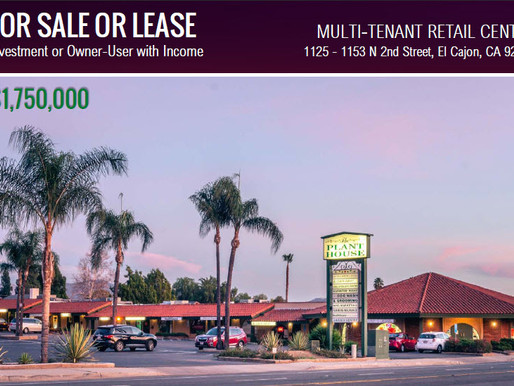 Multi-Tenant Retail Center for Sale or Lease | Investment or Owner-User with Income