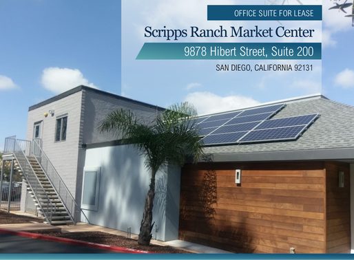 NEW LISTING | Office Suite For Lease | Scripps Ranch Market Center
