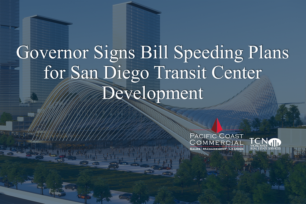 """A """"grand central station"""" connecting travelers to the San Diego airport is part of a larger planned redevelopment of a U.S. Navytechnology research campus. (San Diego Association of Governments)"""