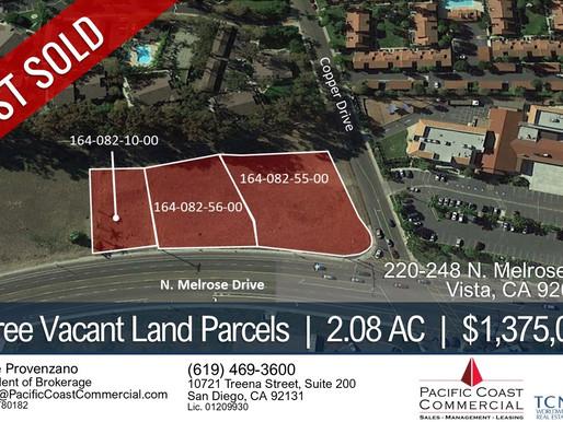 JUST SOLD! Three Adjacent Vacant Land Parcels   $1,375,000