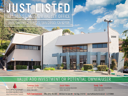 RARE OWNER/USER OPPORTUNITY WITH RENTAL INCOME   Mission Valley Office