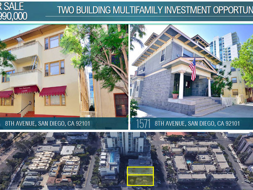 NEW LISTING | Two Building Multifamily Investment Opportunity - Cortez Hill