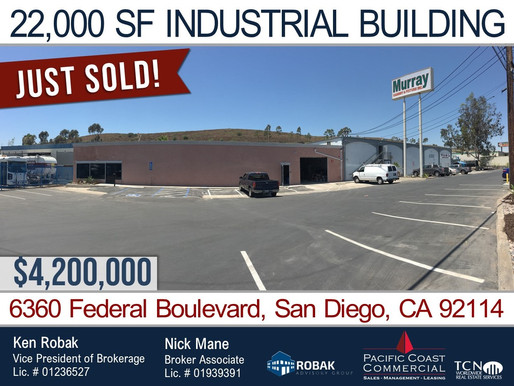 JUST SOLD! Multi-Tenant Industrial Building   $4,200,000