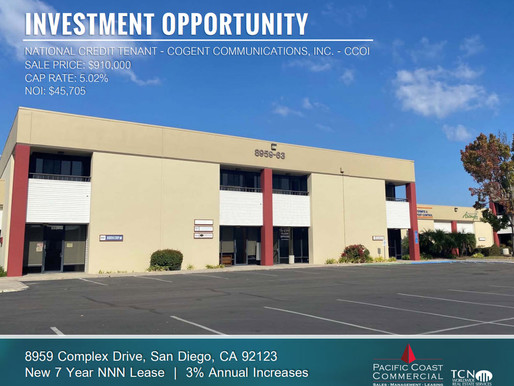 NEW LISTING! Investment Opportunity with National Credit Tenant
