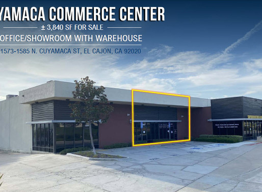 NEW ON MARKET | 3,840 SF Office/Showroom with Warehouse for Sale - Cuyamaca Commerce Center