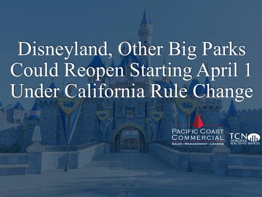 Disneyland, Other Big Parks Could Reopen Starting April 1 Under California Rule Change
