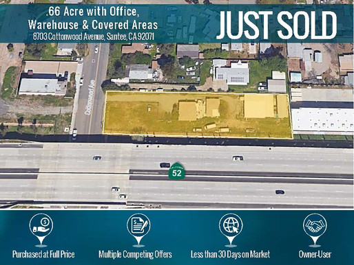 Sold in Less than 30 Days on Market! 0.66 Acre with Office, Warehouse & Covered Areas