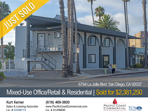 JUST SOLD! Mixed-Use Building in La Jolla | $2.4M