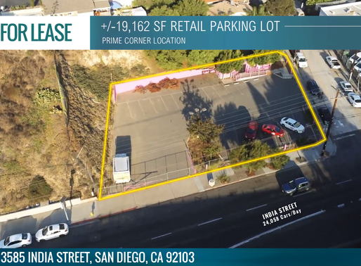 NEW LISTING | +/-19,162 Retail Parking Lot - Prime SD Corner Location